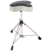Gibraltar 6608MSW Double Braced Motorcycle Style Drum Throne - White Sparkle Finish