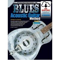 Progressive Blues Acoustic Guitar with Online Video and Audio