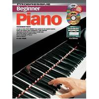 Progressive Beginner Piano Book with CD and DVD