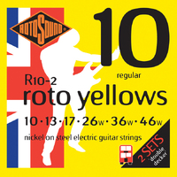 Rotosound R10 Roto Yellows Electric Guitar Strings 2 Pack