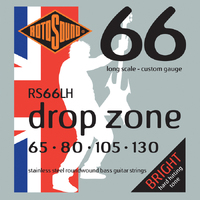 Rotosound RS66LH Swing Bass 66 65-130 Drop Zone Stainless Set